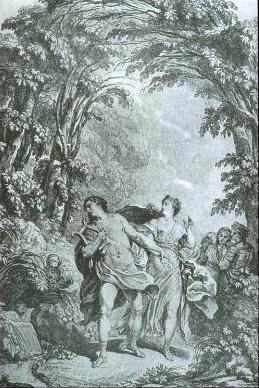 Illustration for the score of the original Vienna version of Orfeo ed Euridice Gluck's Orphee - title page illustration (lightened and cropped).jpg