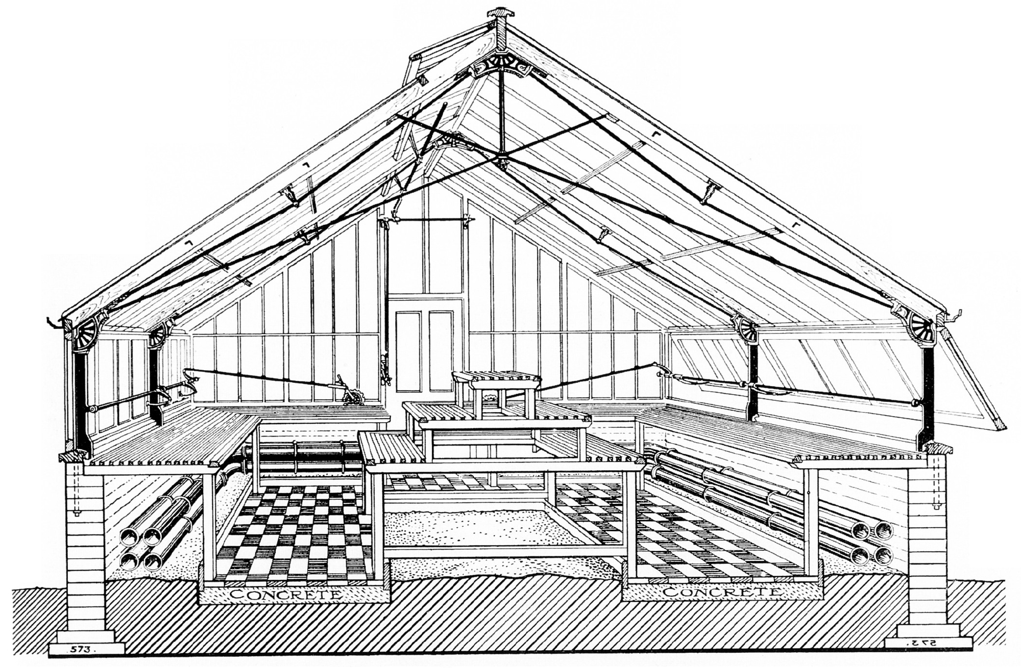 Greenhouse Blueprints File Greenhouse Messenger And Company 18xx Png