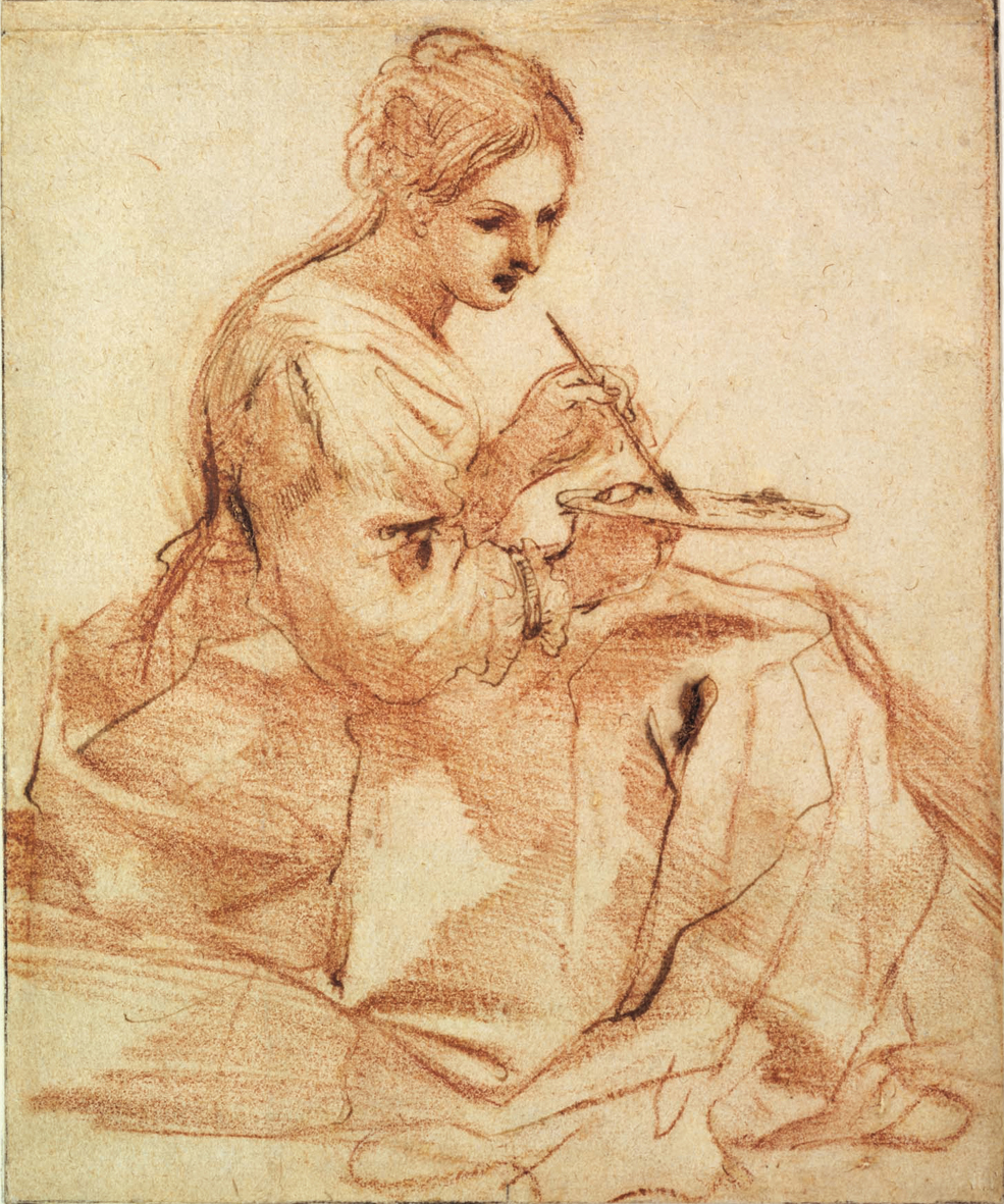 file guercino donna che dipinge     wikimedia commons