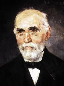 Hendrik Antoon Lorentz (autor malby Menso Kamerlingh Onnes)