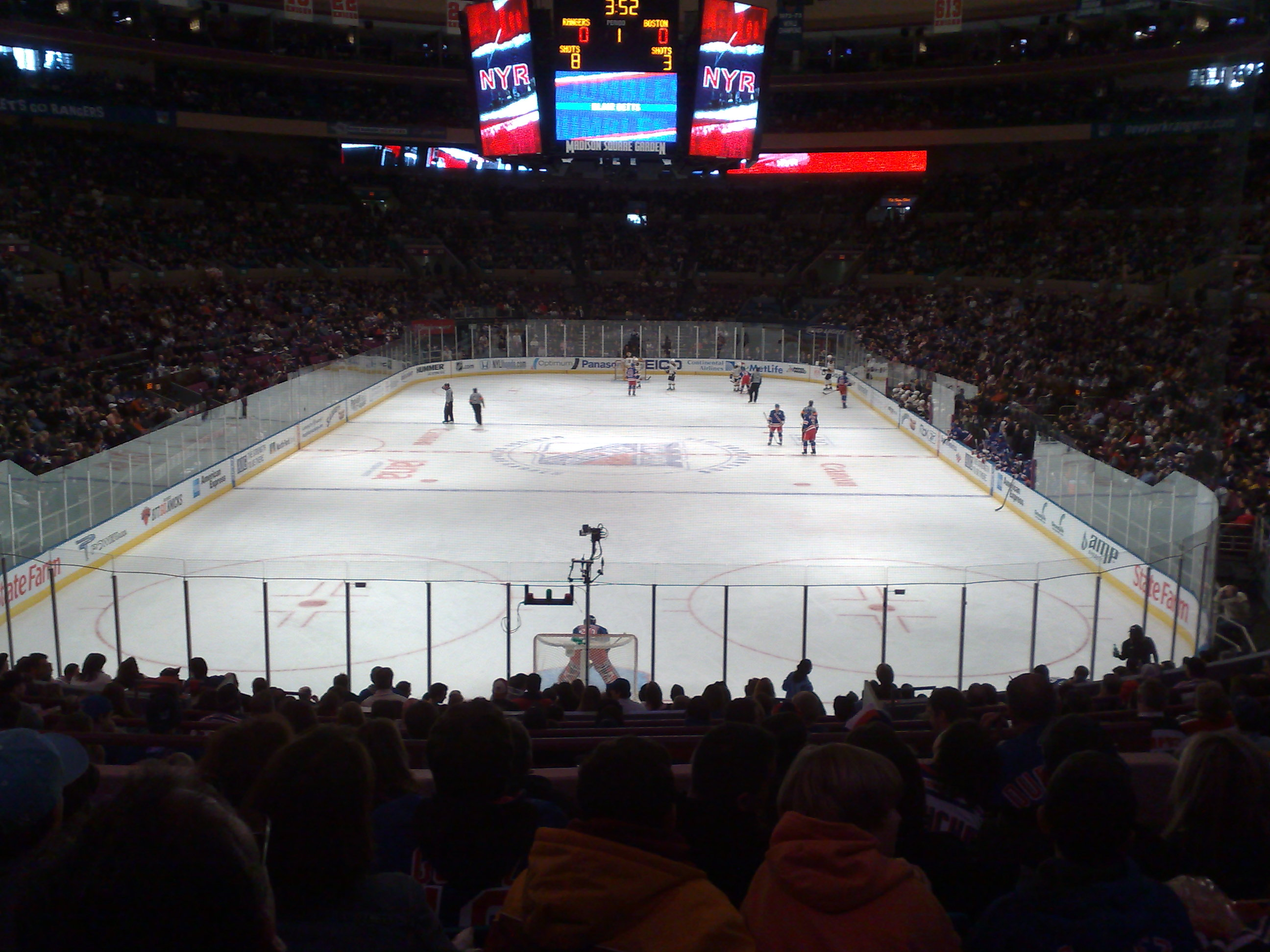 File:Ice Hockey Game   Madison Square Garden   Boston Vs New York