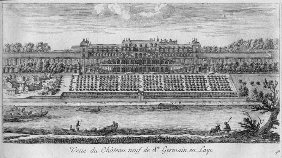 La rampe des Grottes et le mur des Lions du Château-Neuf de Saint-Germain-en-Laye