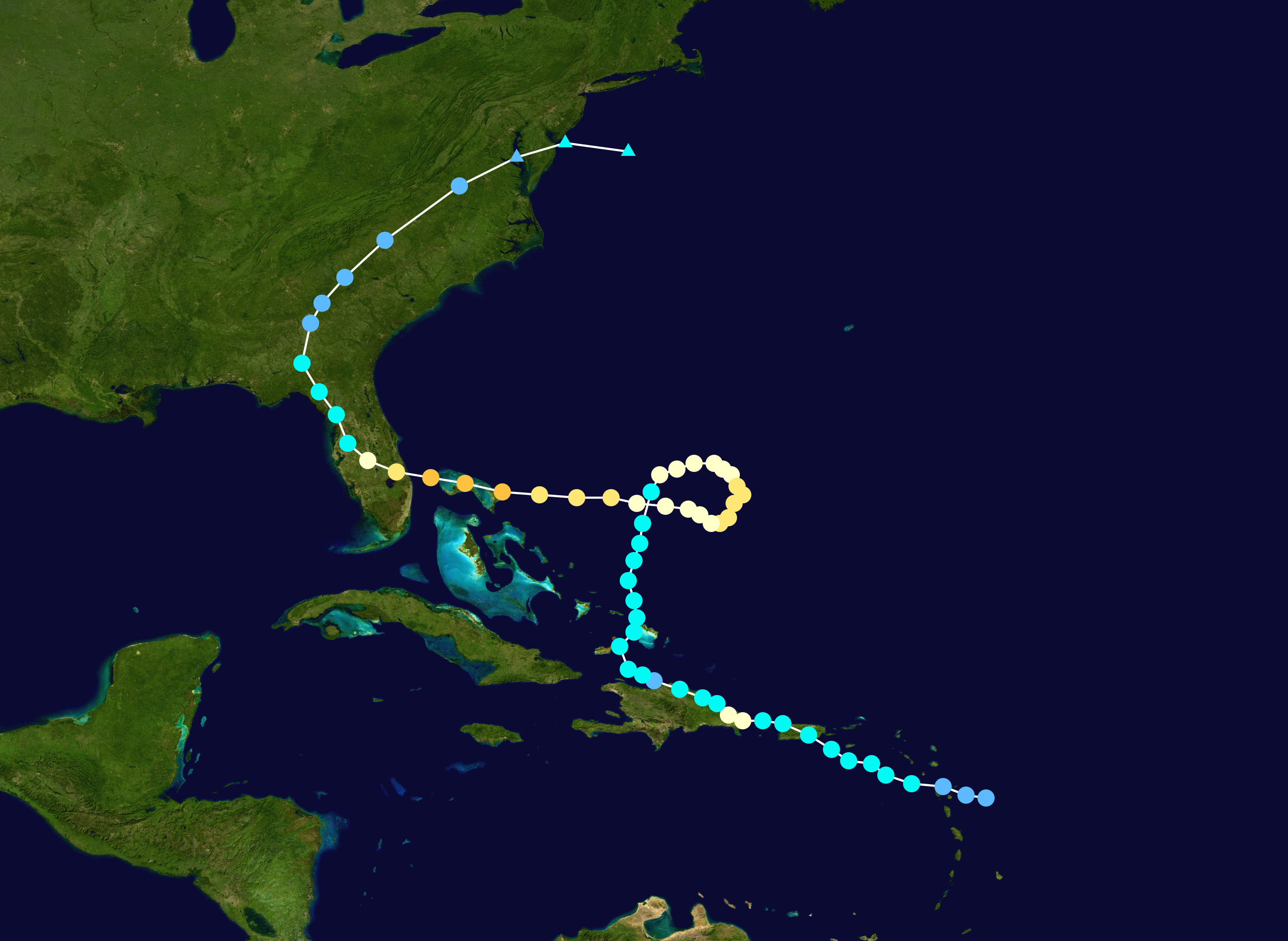 Could Karen Take Another Weird Loop Toward The U S Like Hurricane Jeanne Did 15 Years Ago The Weather Channel