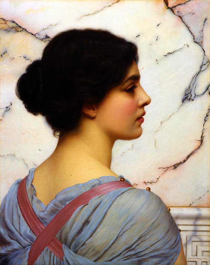 John William Godward, 1909 - Bellezza Pompeiana.jpg