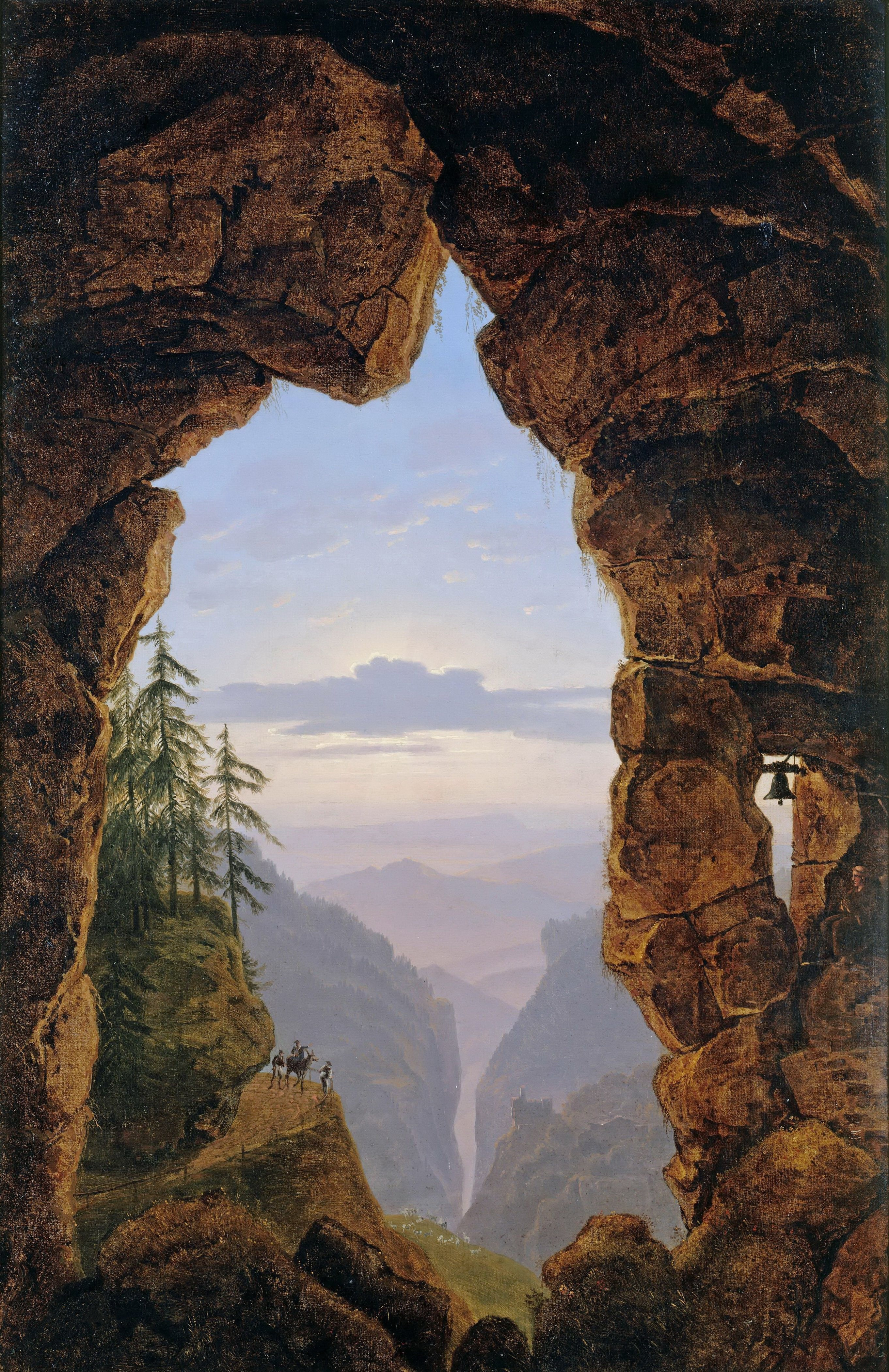 LE MUSEE DU FORUM - Page 3 Karl_Friedrich_Schinkel_-_The_gate_In_The_Rocks