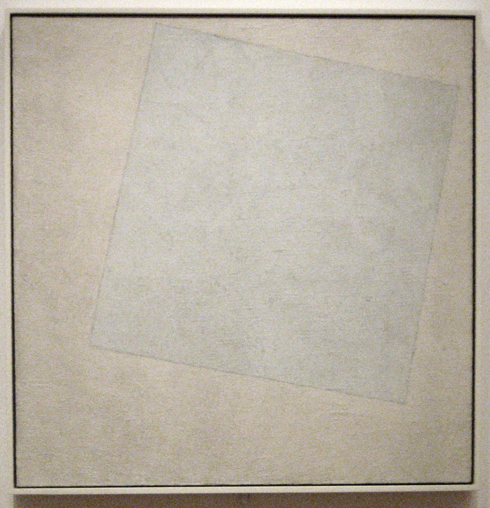File kazimir malevich 39 suprematist composition white on for White canvas painting