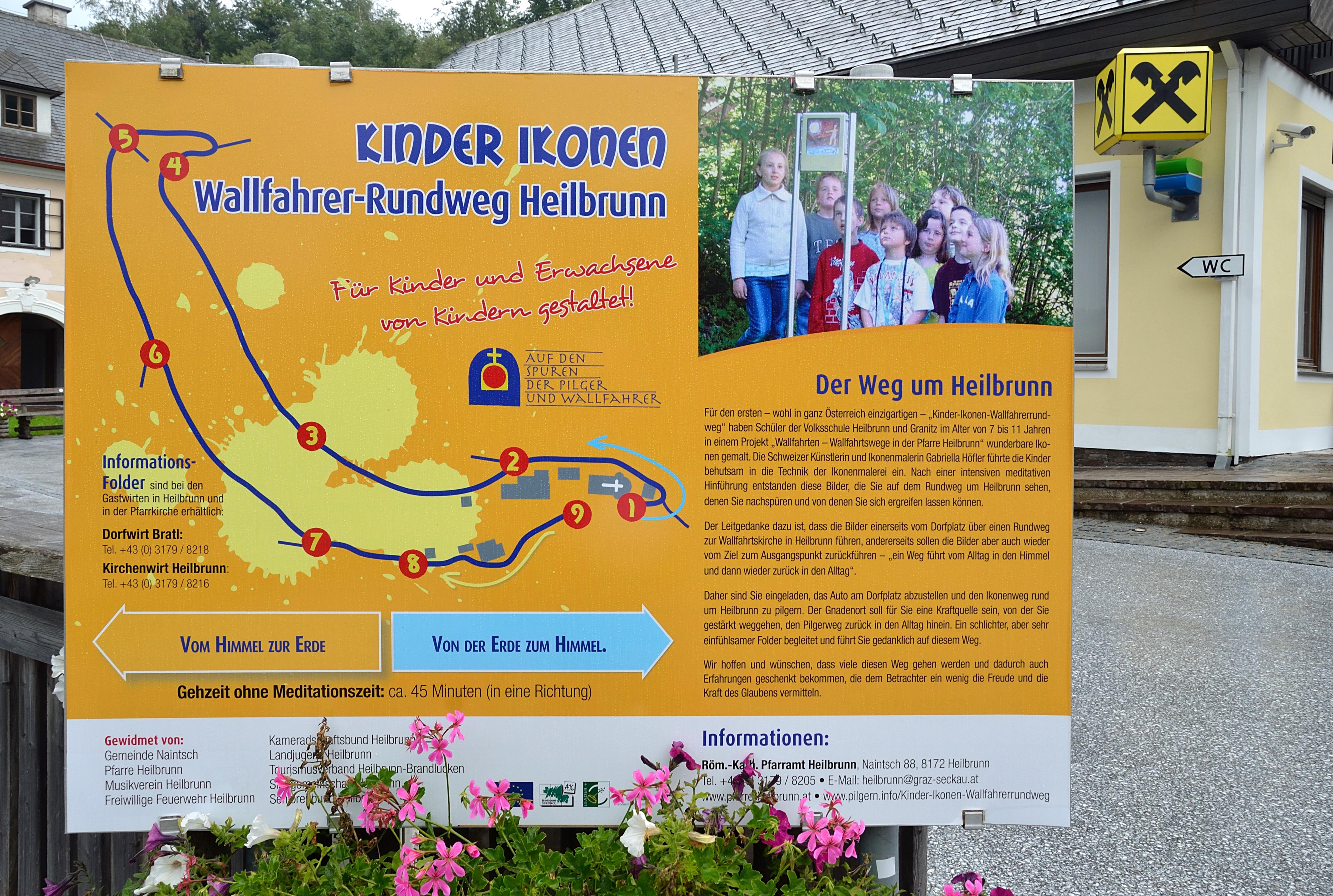 File Kinder Ikonen Wallfahrer Rundweg Heilbrunn Information Board