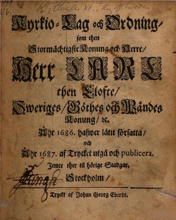 1686 års kyrkolag 1686 års kyrkolag – Wikipedia 1686 års kyrkolag