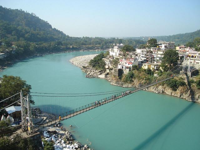 Lakshman Jhula Hanging Bridge, Rishikesh, India
