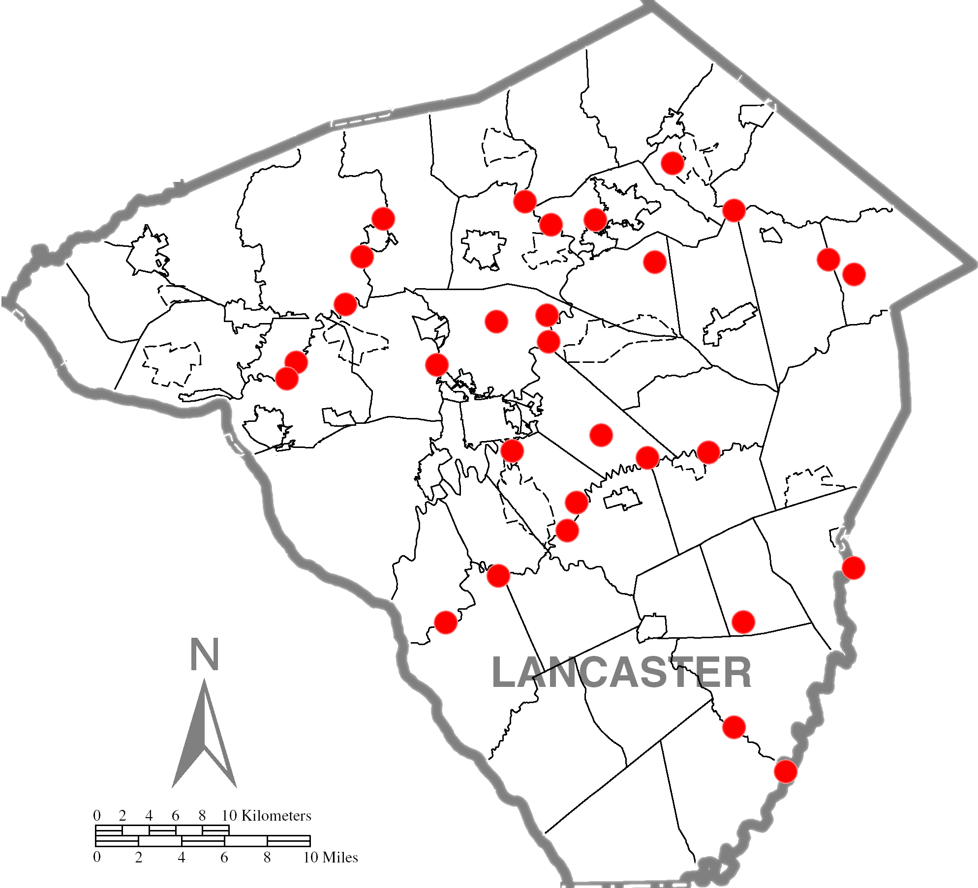 Lancaster Covered Bridge Driving Tour Map