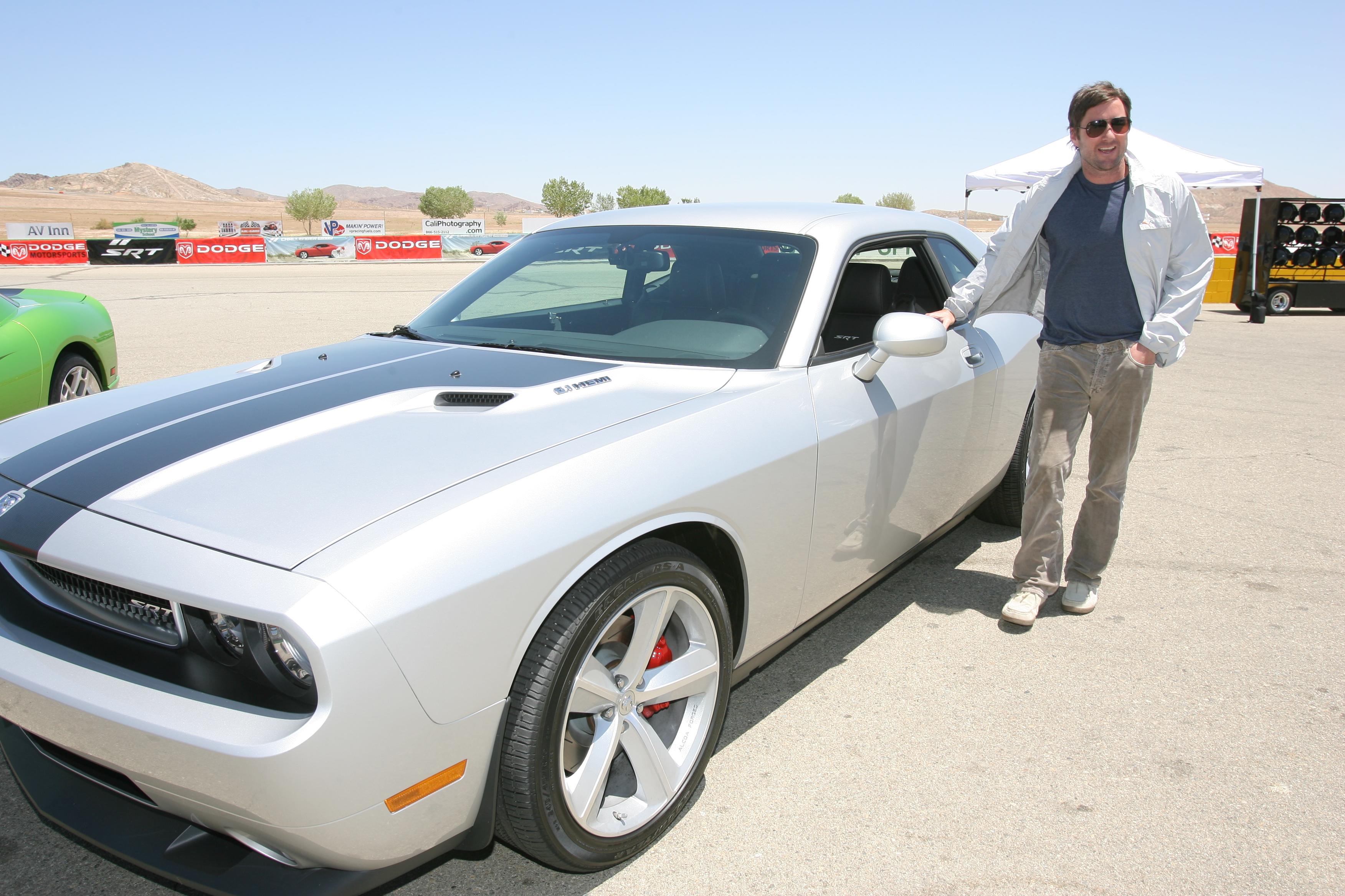 Dodge Challenger car - Color: Silver  // Description: classy