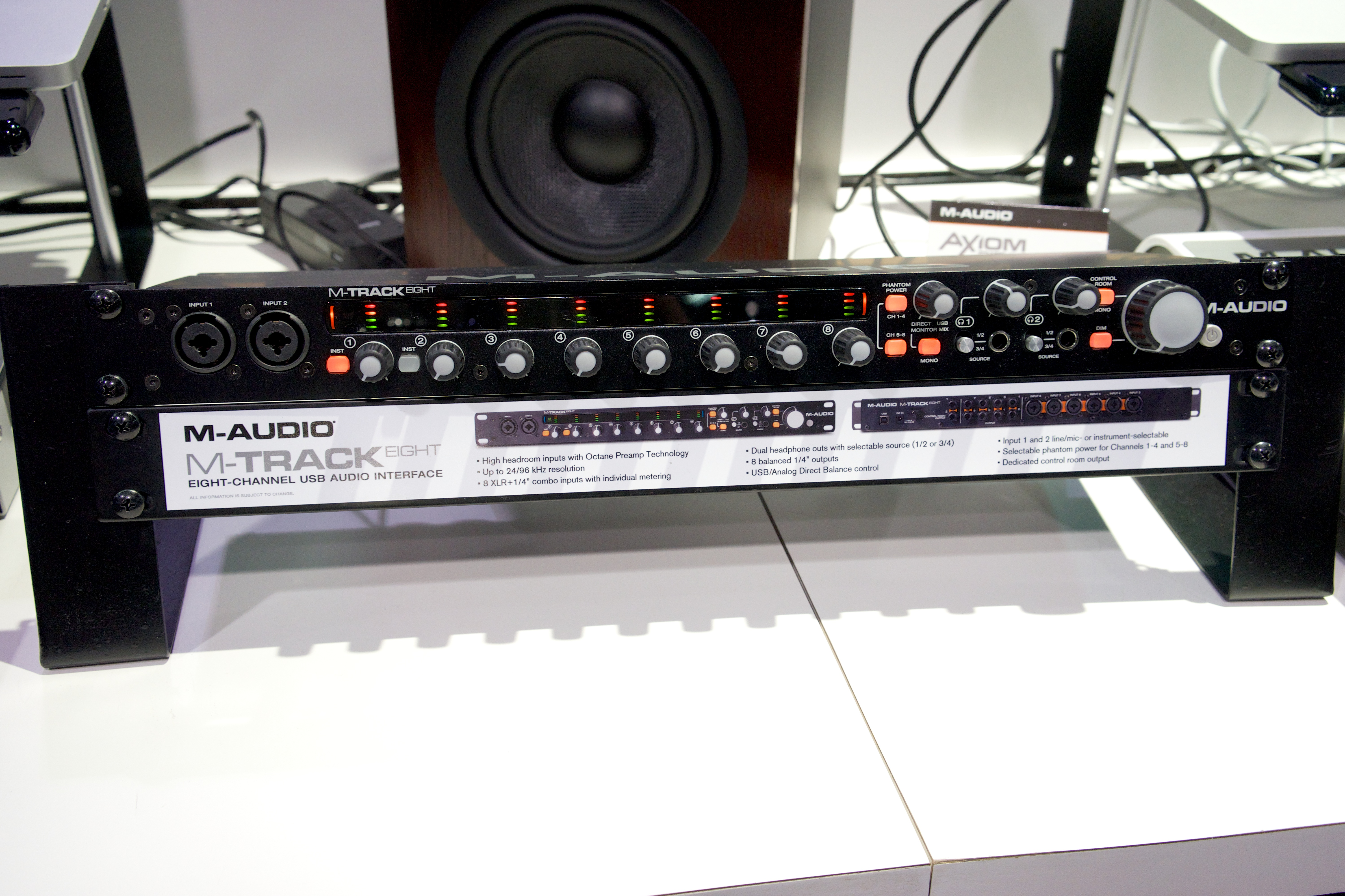 file m audio m track eight 8 channel usb audio interface 2014 namm show by matt vanacoro jpg. Black Bedroom Furniture Sets. Home Design Ideas
