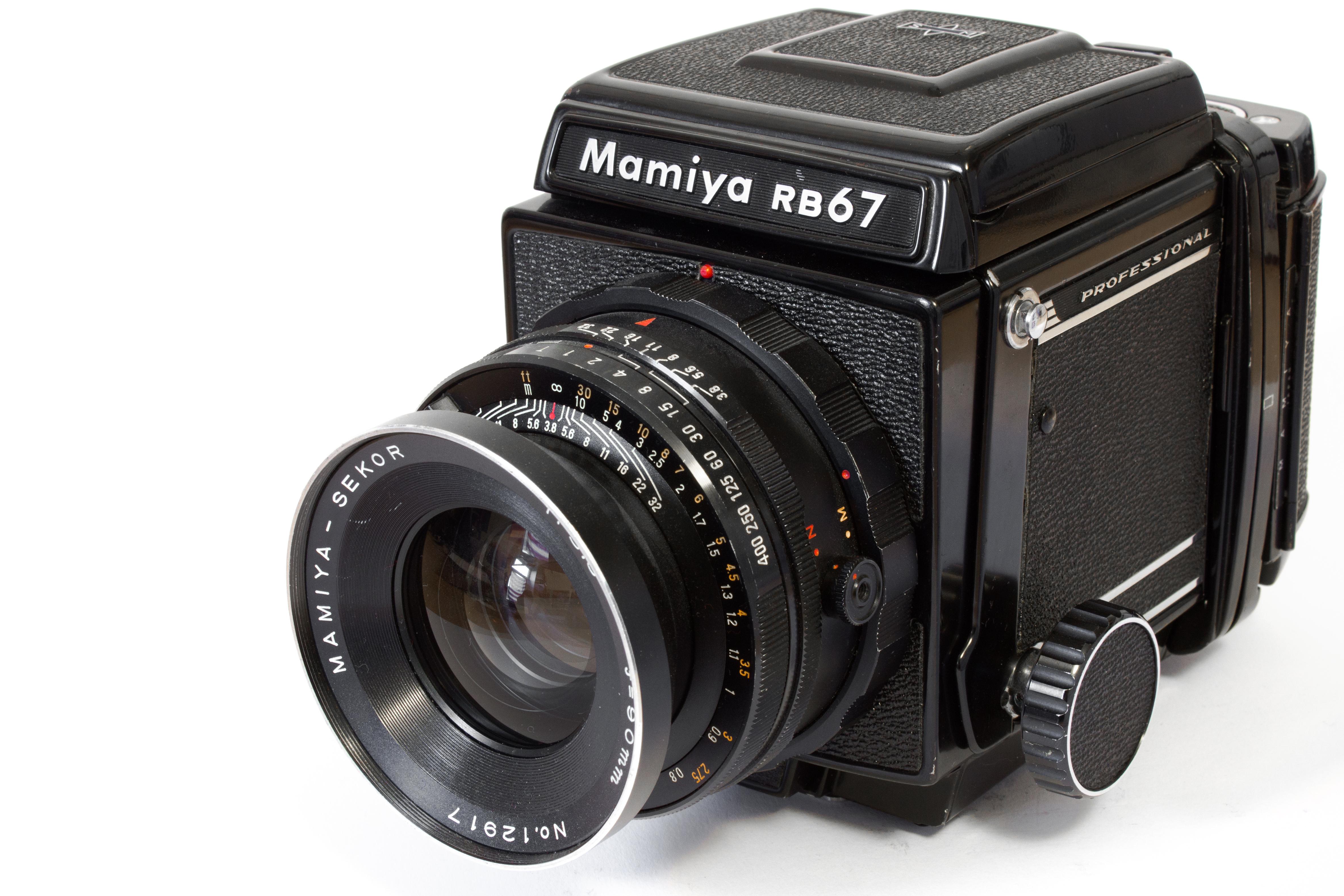 File:Mamiya rb67 with 90mm f3-8 analog camera jpg