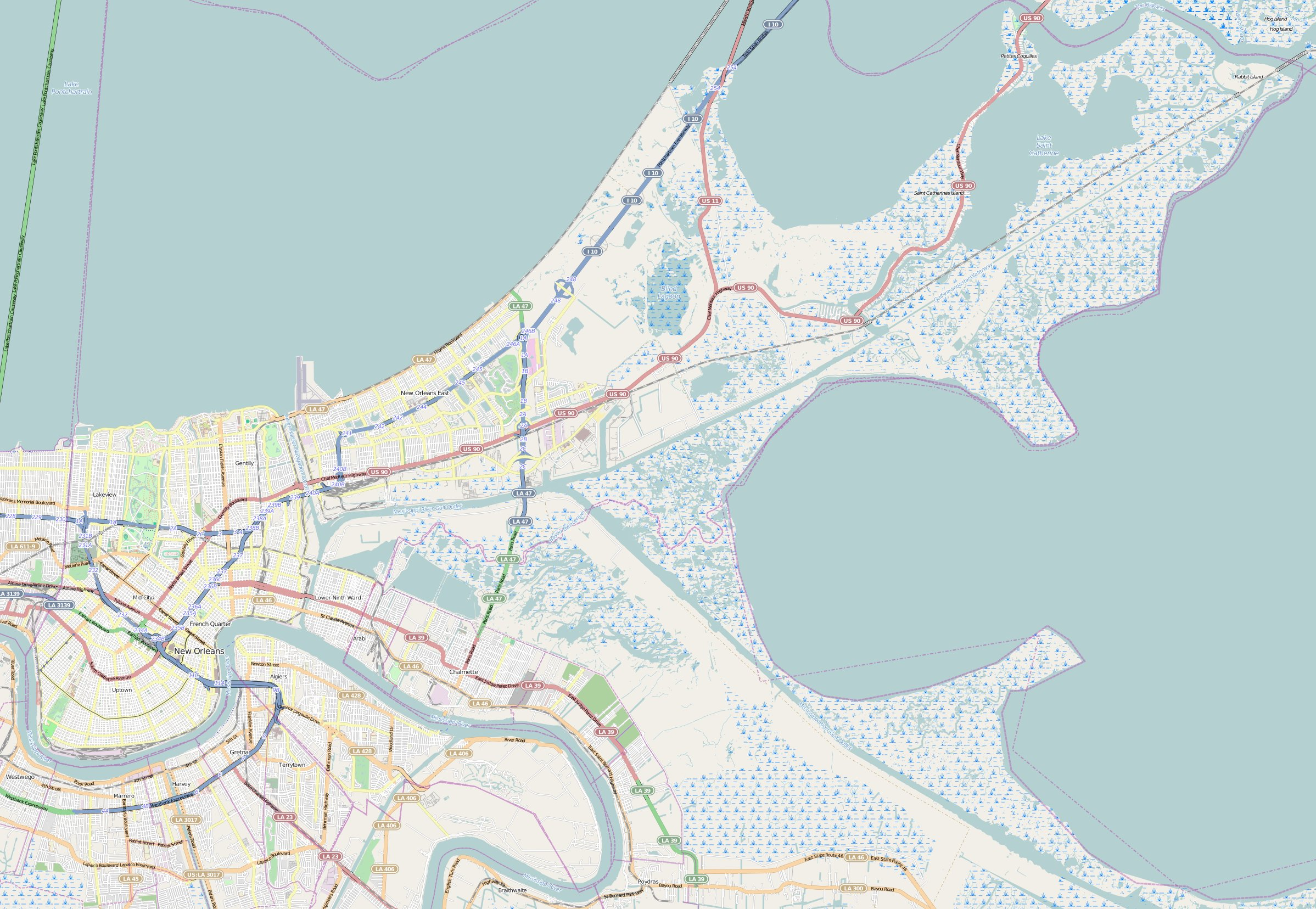 FileMap New Orleansjpg Wikimedia Commons - Map new orleans wards