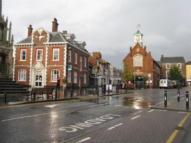 Market Square, with the old Fire Station (1919) - geograph.org.uk - 956618