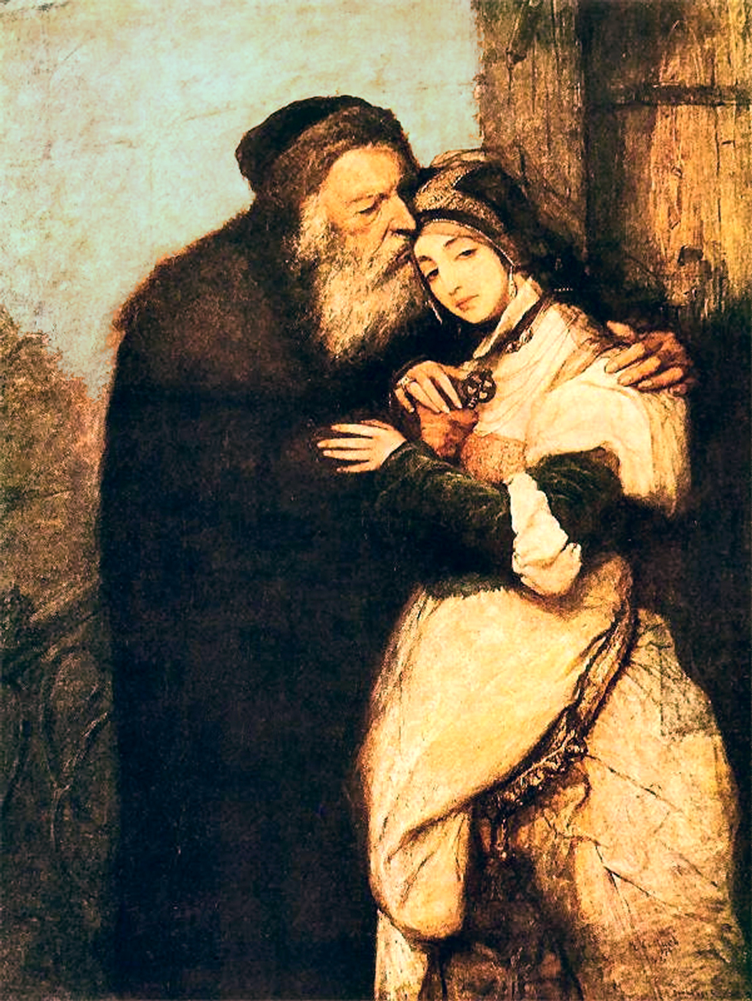 the merchant of venice  shylock and jessica 1876 by maurycy gottlieb