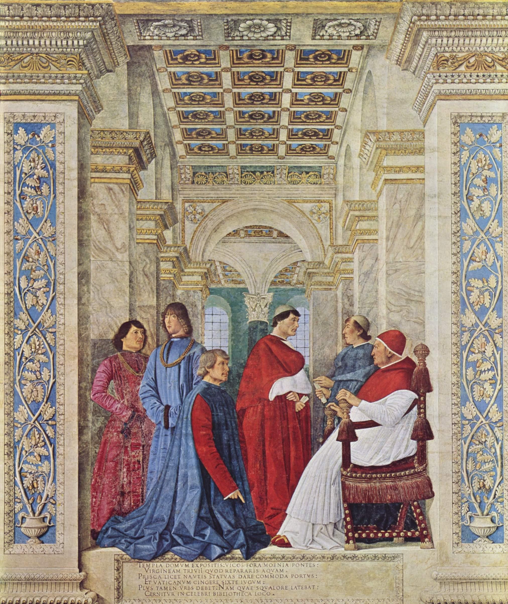 ヴァチカン図書館長を拝命するバルトロメオ・サッキ