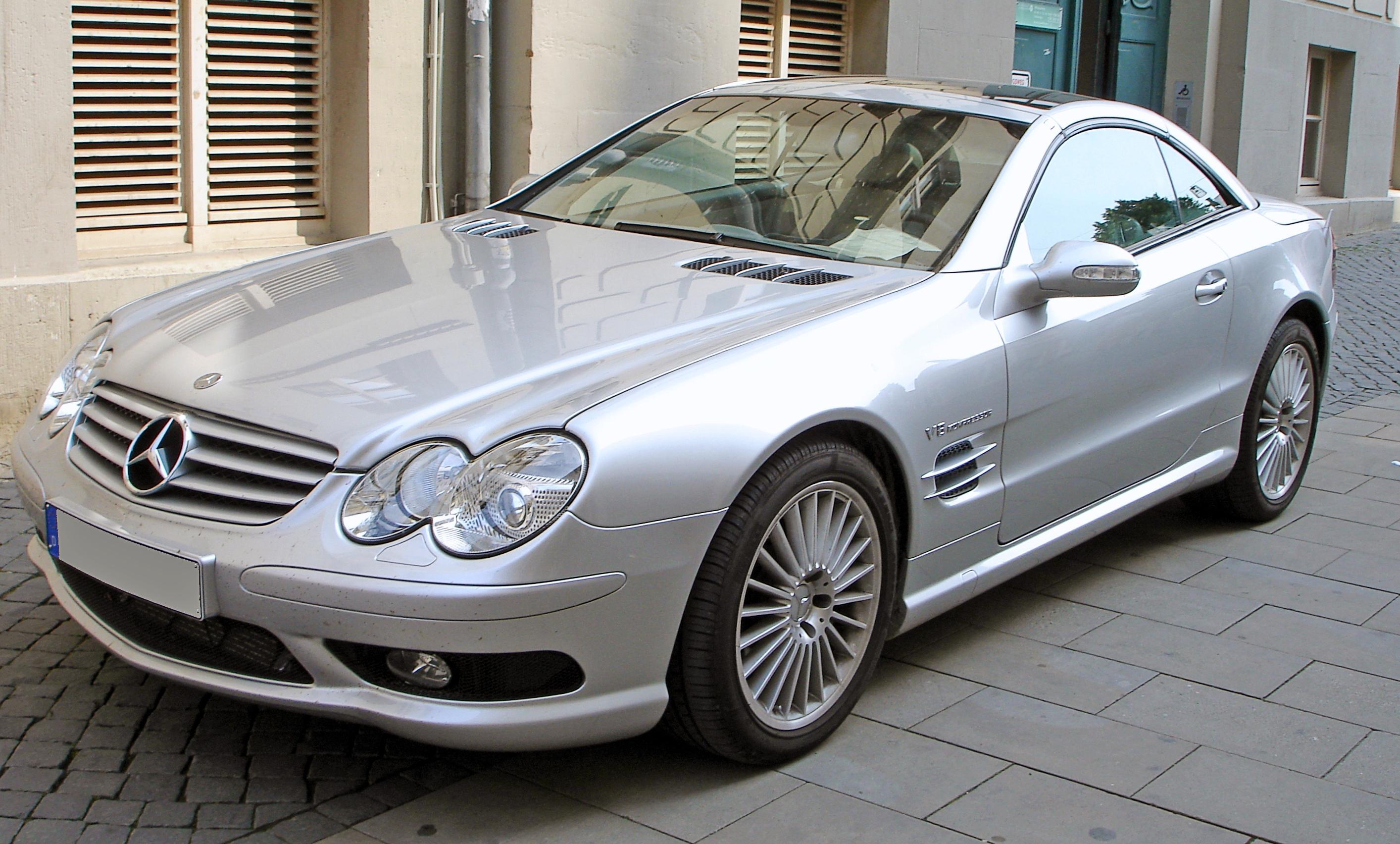 SL55 AMG car - Color: Silver  // Description: sophisticated sporty