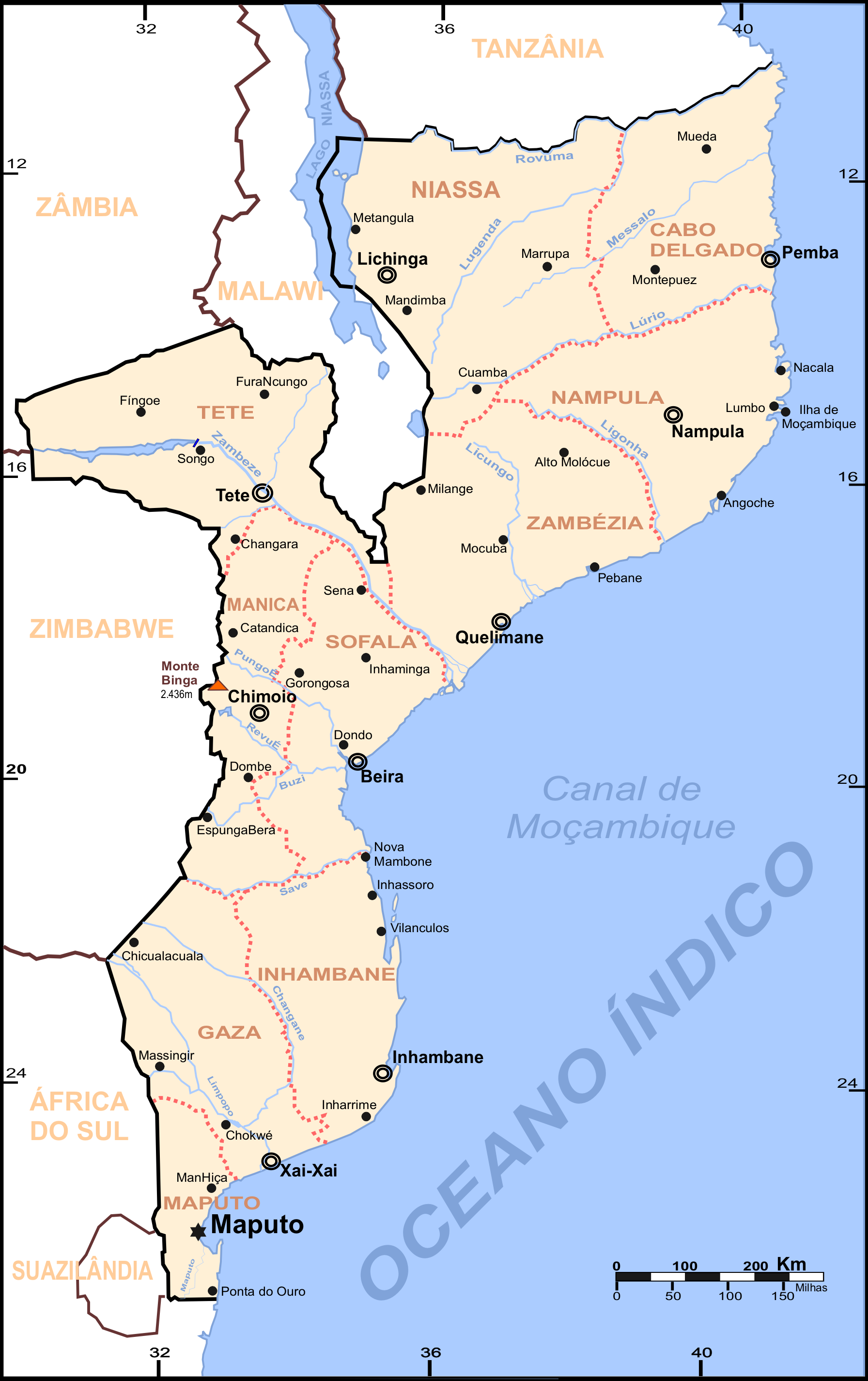 moçambique mapa Ficheiro:Mozambique map cities.png – Wikipédia, a enciclopédia livre moçambique mapa