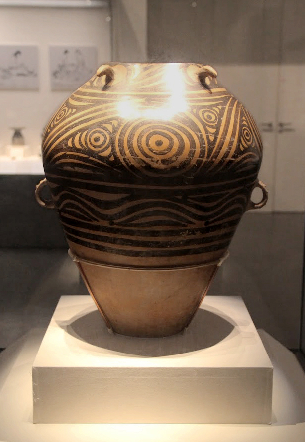 File:Neolithic painted pottery jar, Majiayao Culture ...