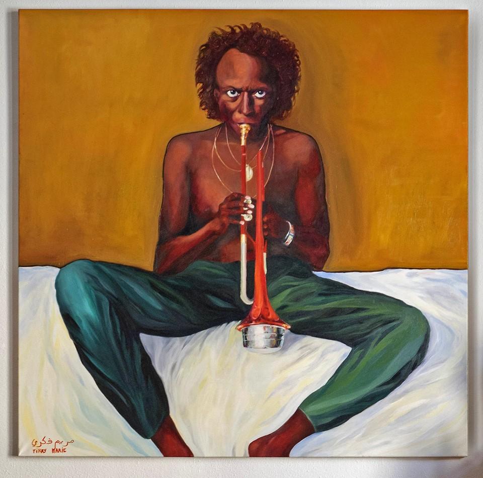 Fichier:Peinture à l'huile de Miles Davis
