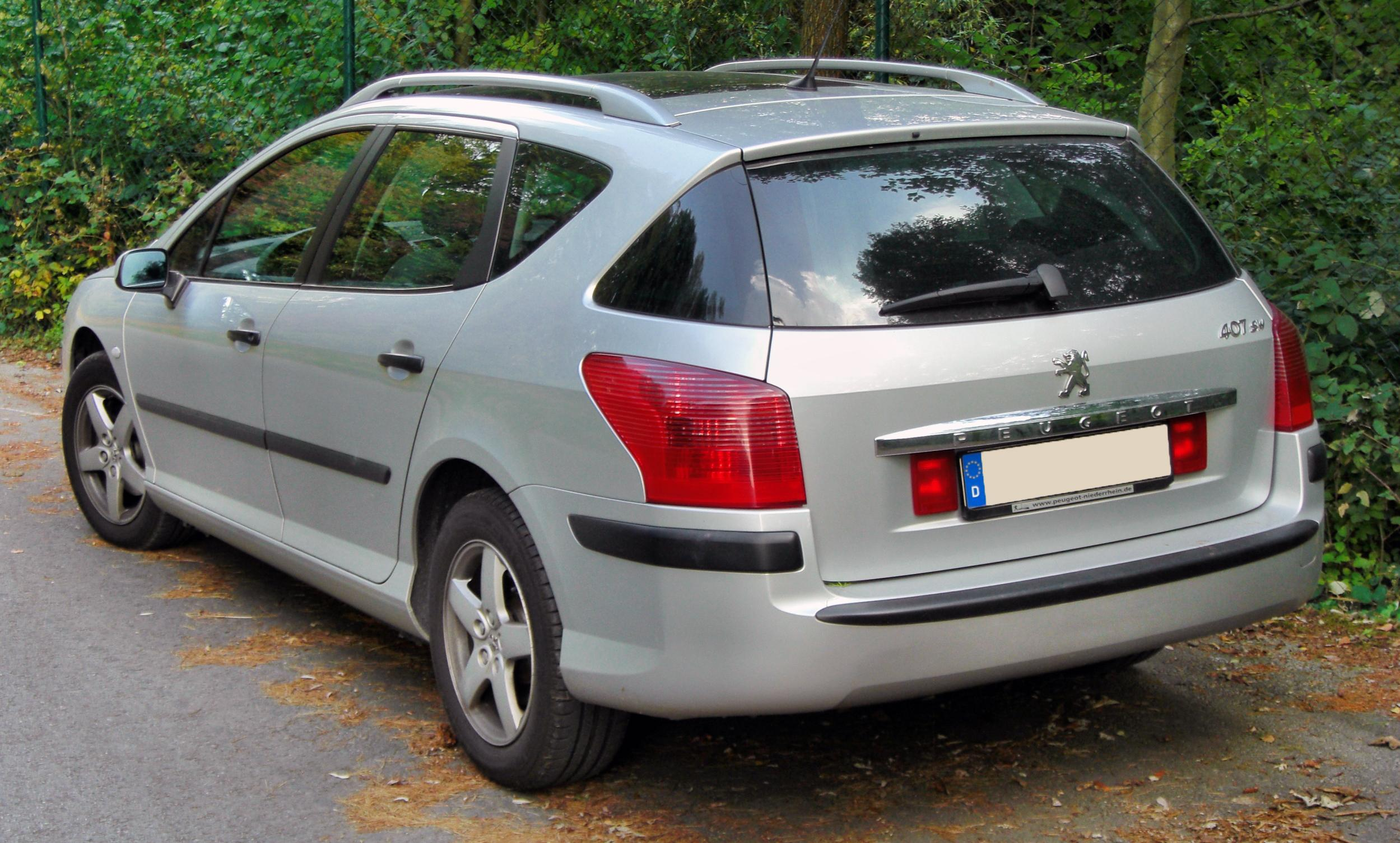 File peugeot 407 sw rear wikipedia for Interieur 307 sw