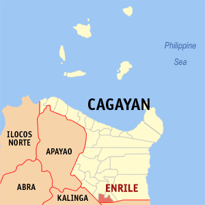 Map of Cagayan showing the location of Enrile