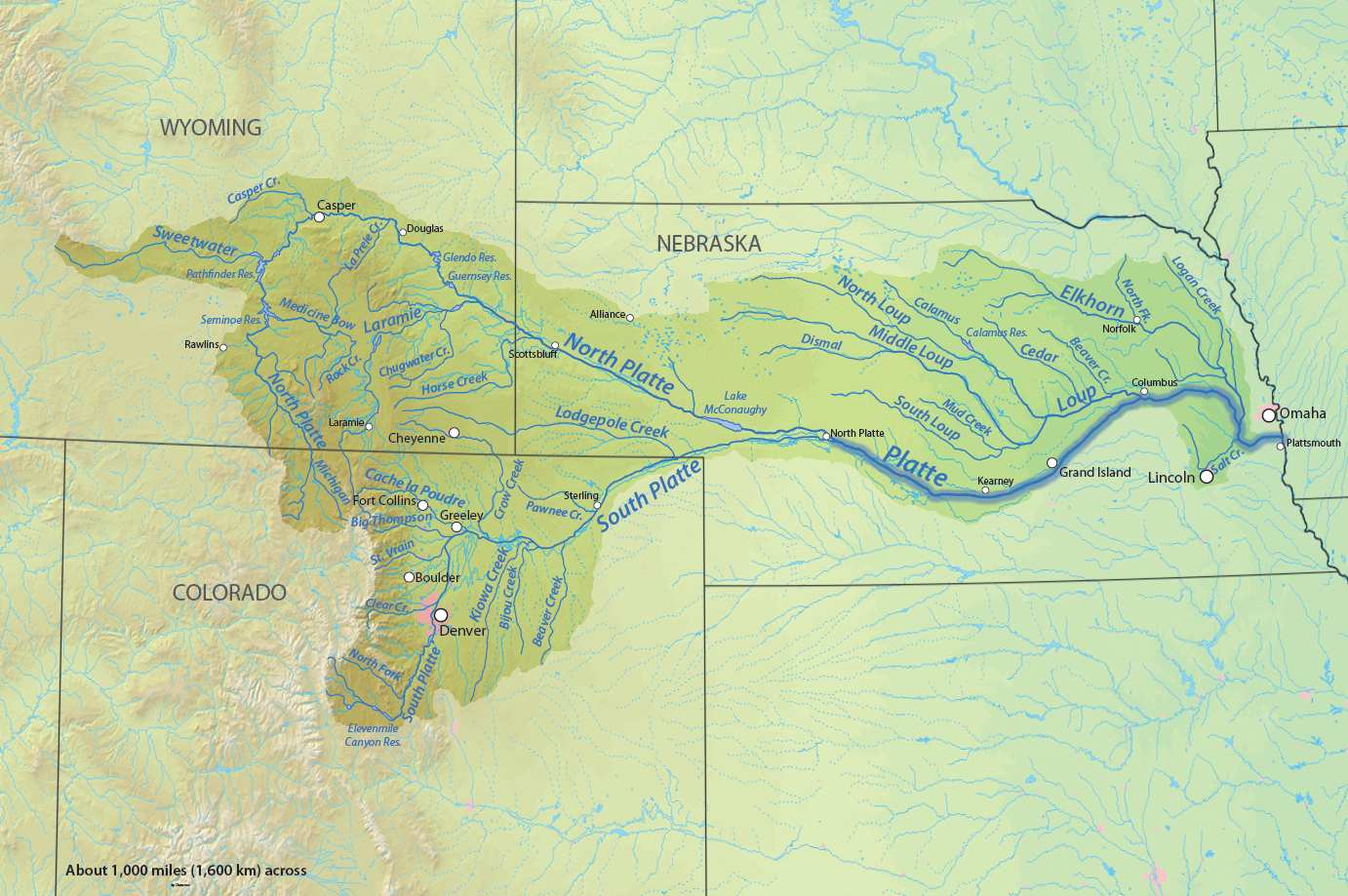 American Rivers A Graphic Pacific Institute Reference Map Of - Map of northwest us rivers