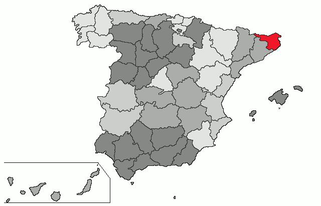 mapa espanha girona Girona (província) – Wikipédia, a enciclopédia livre mapa espanha girona