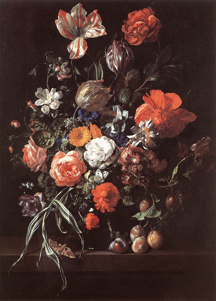 File rachel ruysch still life with bouquet of flowers for Bouquet de fleurs nature