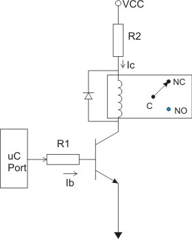 Operating a relay using a logic level signal.