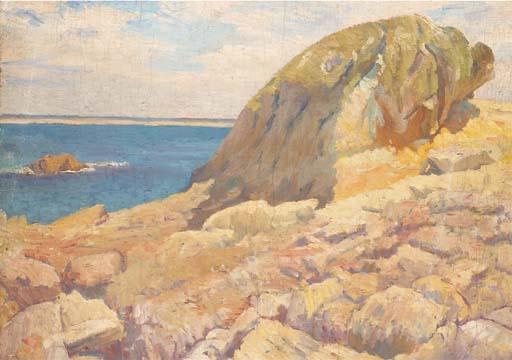 File robert delaunay paysage le rocher devant la mer c1904 - Dessin rocher ...