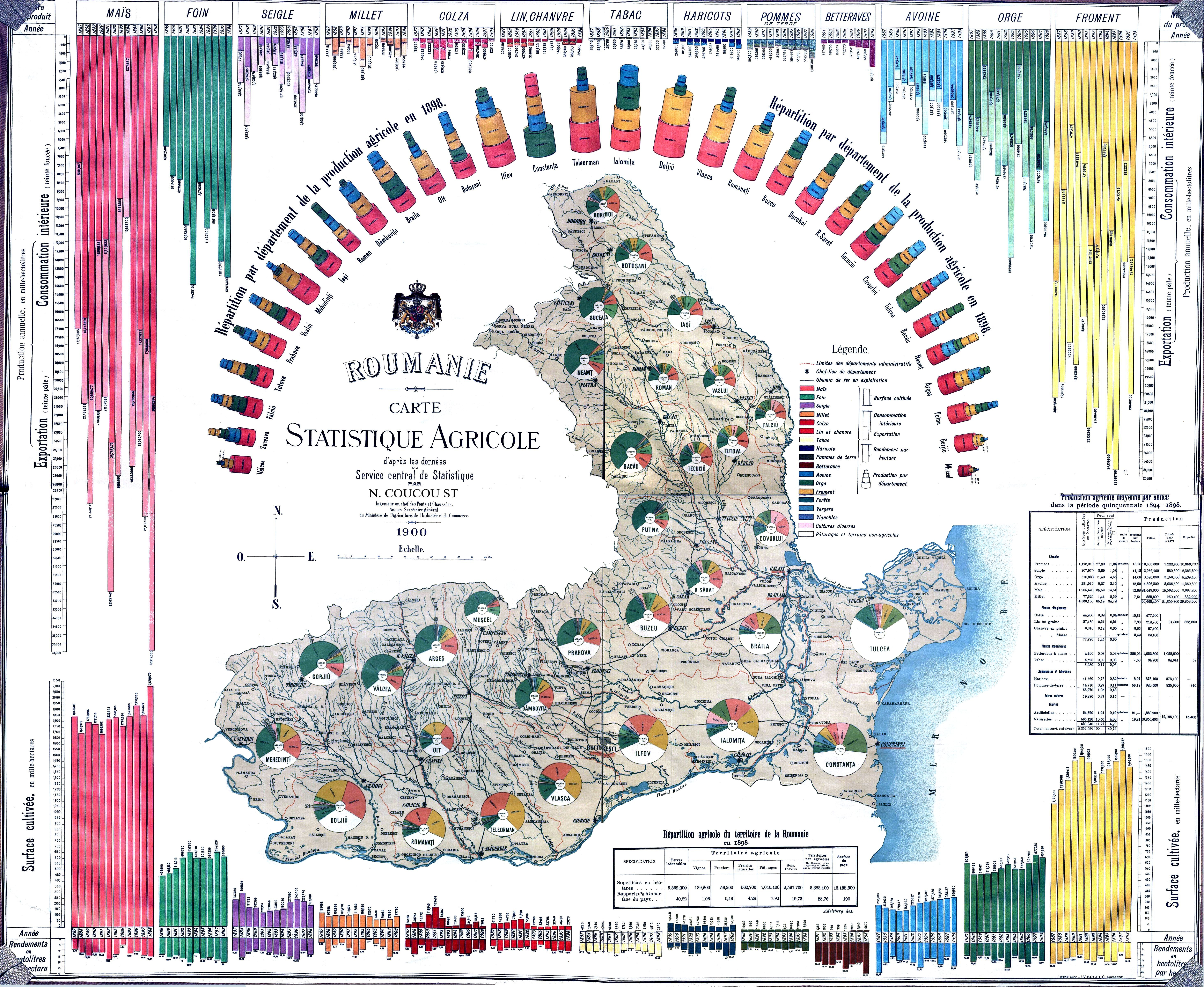 File Romania Harta Statistica Agricola 1898 Jpg Wikimedia Commons