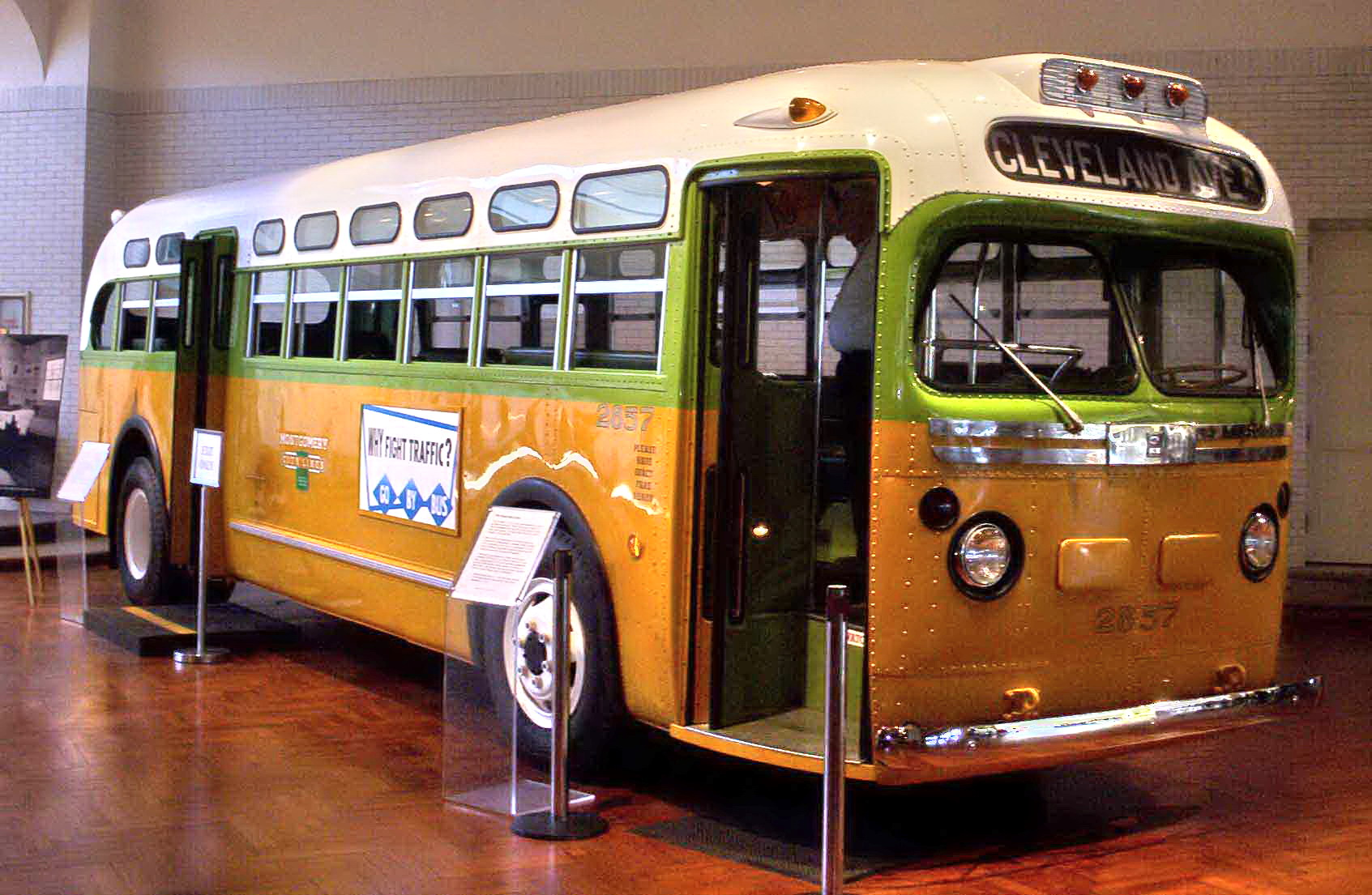 Bus on which Rosa Parks Refused to Give Up Her Seat