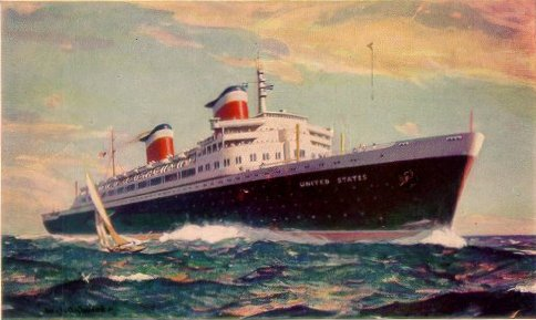 SS United States, the fastest ocean liner ever built, designed by Gibbs & Cox.