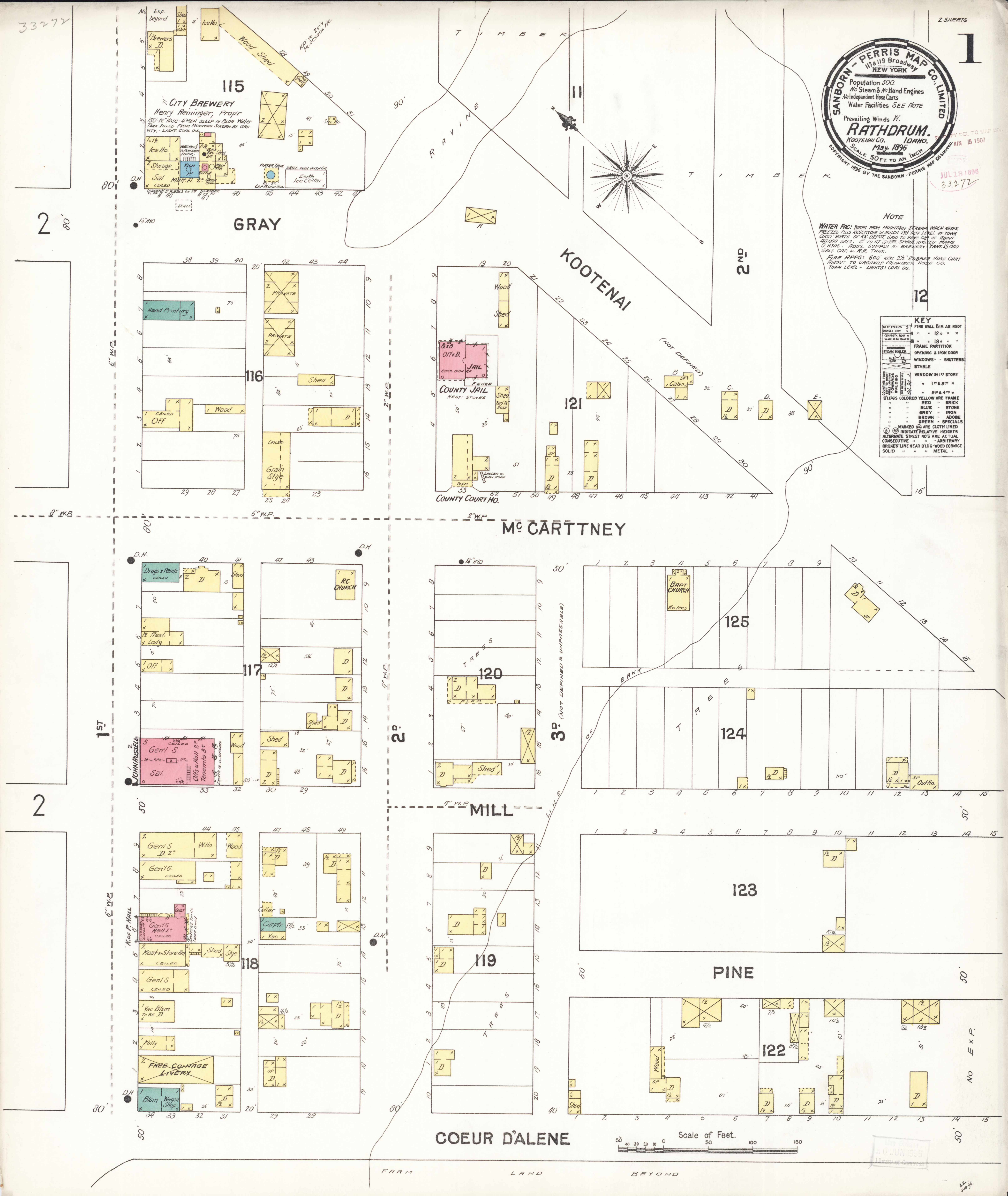 File Sanborn Fire Insurance Map From Rathdrum Kootenai County