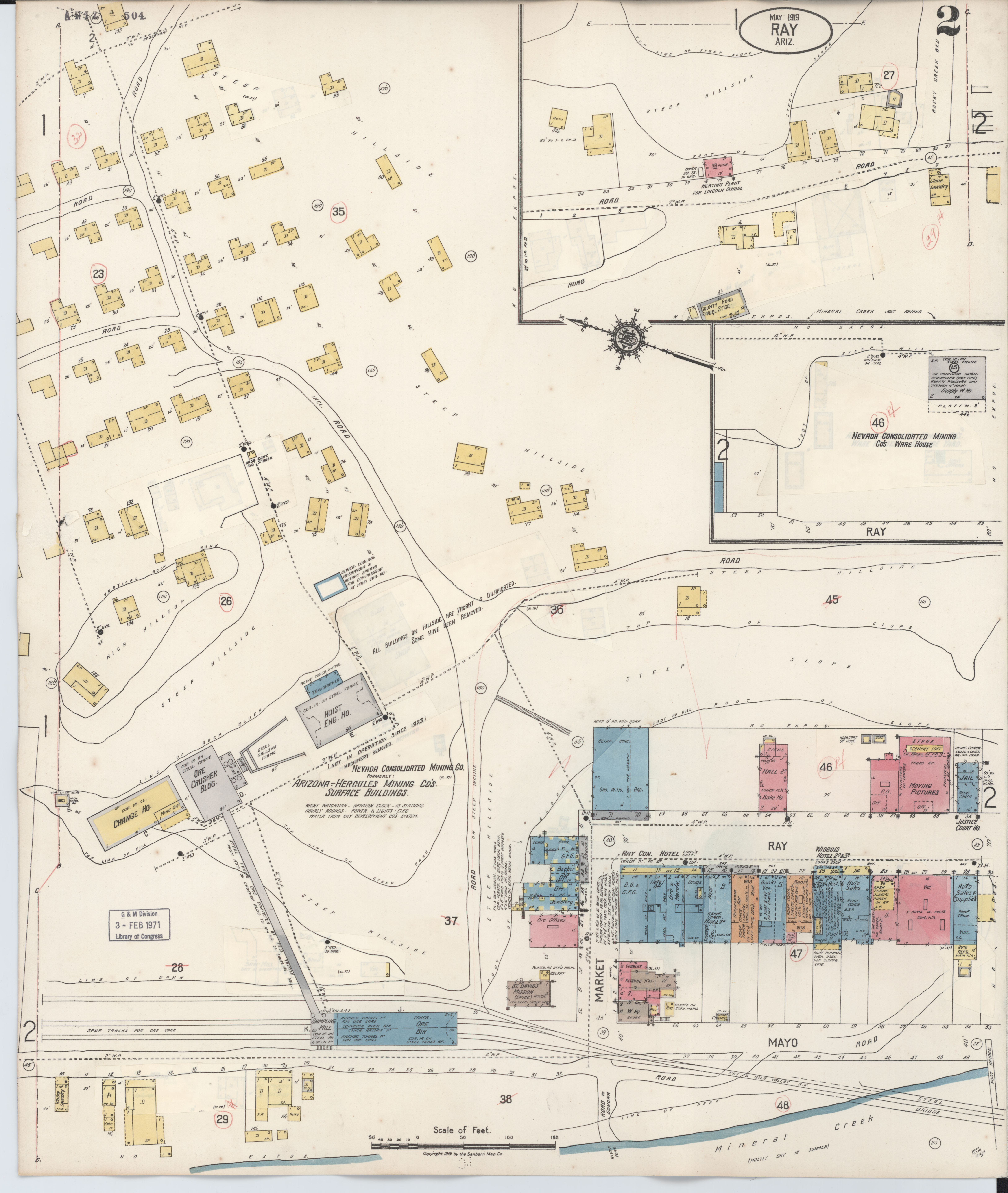 County Line 2 Fire Map.File Sanborn Fire Insurance Map From Ray Pinal County Arizona Loc