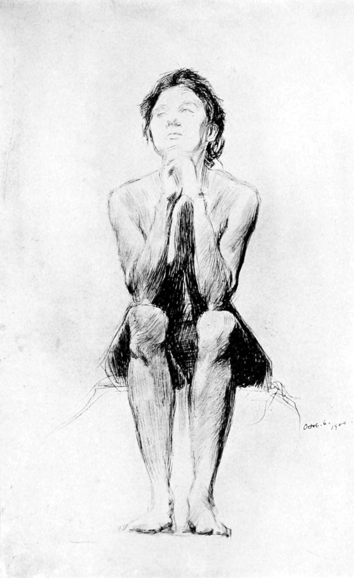 Drawing Of Naked Woman