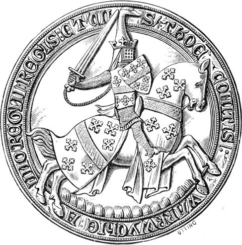 File:Seal of Sir Thomas de Beauchamp (1344), Earl of Warwick,