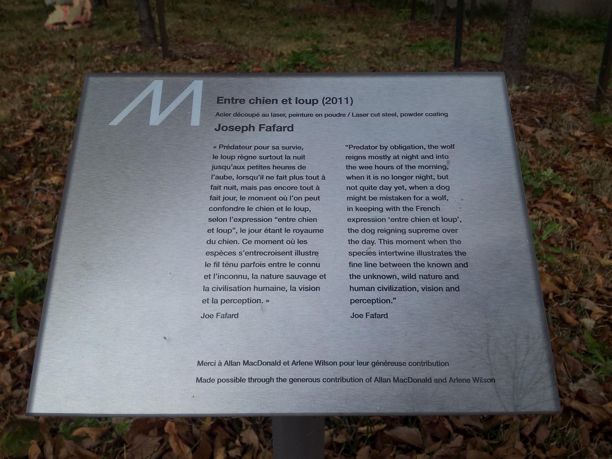 Filesignage For Entre Chien Et Loup Public Art Piece At