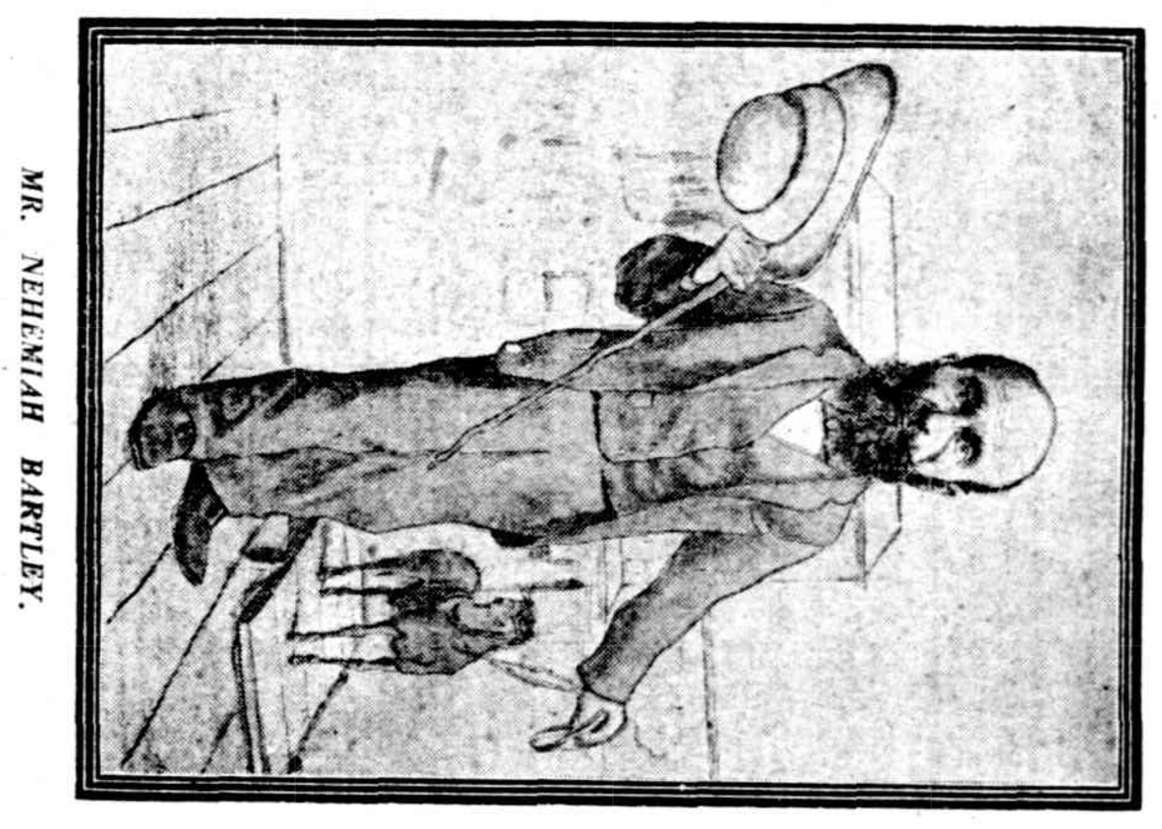 Sketch of Nehemiah Bartley, 1924