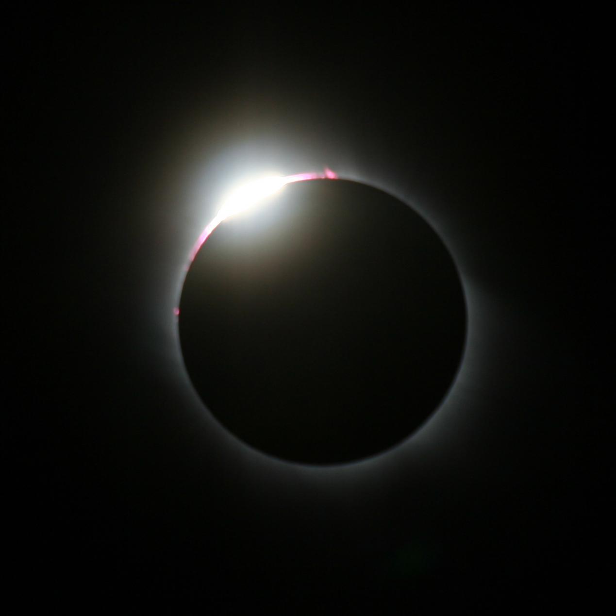 Sonnenfinsternis mit Diamantring am 29. März 2006