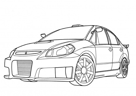 File Suzuki SXForce Coloring Page on subaru wrx sti drawing