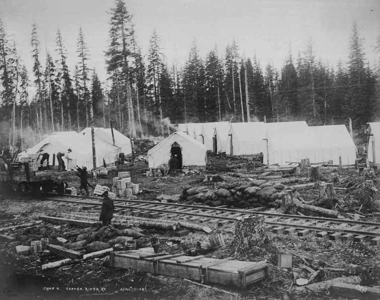 FileTents at C& 4 of the Copper River and Northwestern Railway showing workers loading & File:Tents at Camp 4 of the Copper River and Northwestern Railway ...