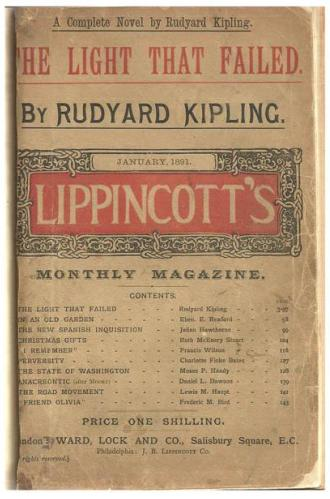 """a literary analysis of the light that failed by rudyard kipling Rudyard kipling was born in bombay, india, to british parents on december 30, 1865  21 books you've been meaning to read  his story """"baa baa, black sheep"""" (1888), in his novel the light that failed (1890), and in his autobiography, something of myself (1937)  in 1907 he received the nobel prize for literature."""