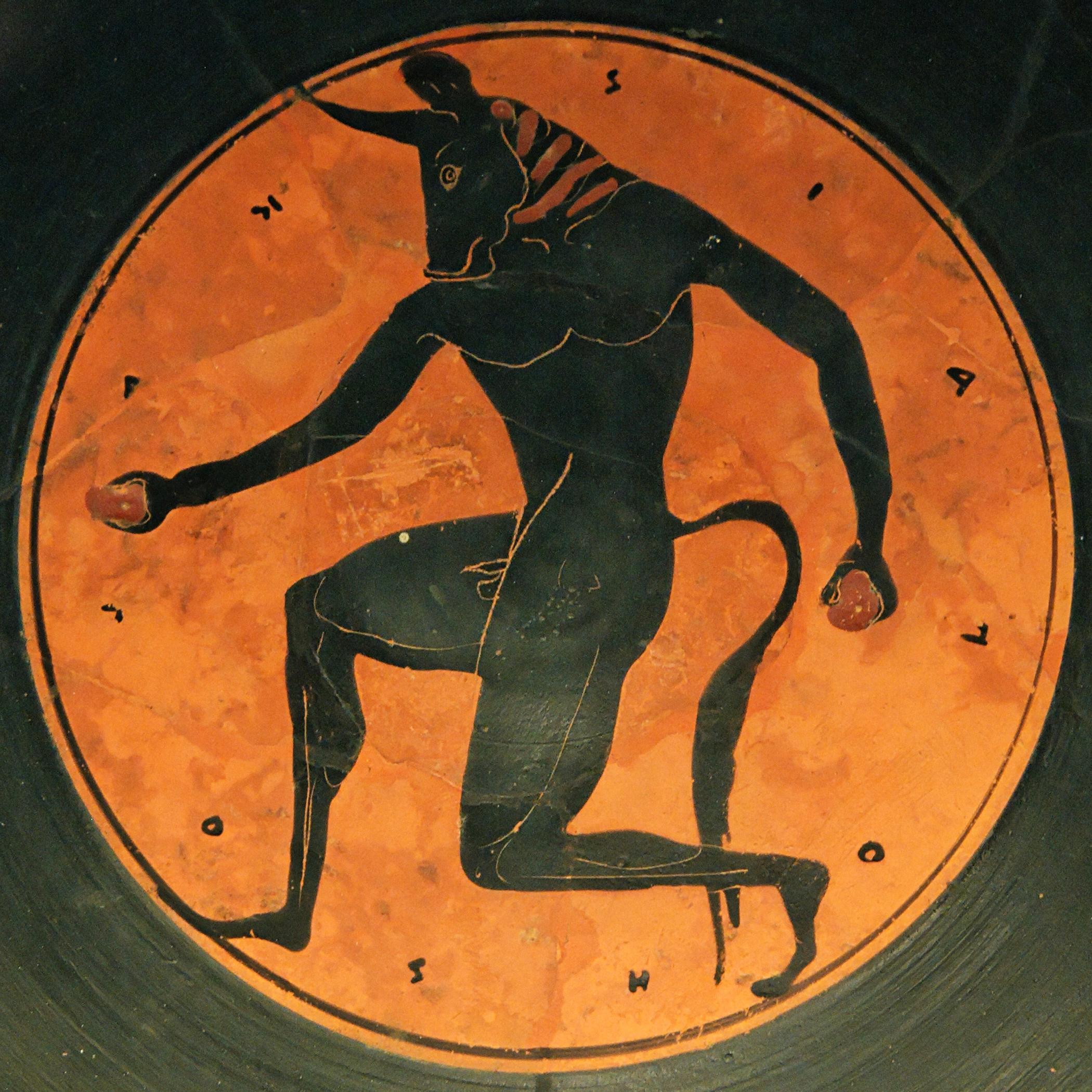 Resultado de imagen de mural cnosos minotauro
