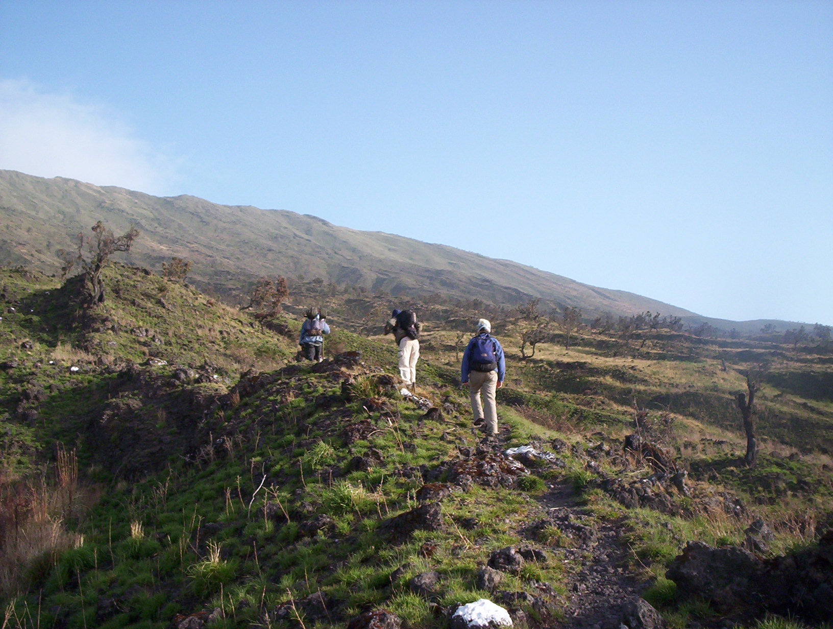 Tourists climbing Mount Cameroon Bakweri People:  Ancient Fierce Fighters, Traditionally Spiritual, Custom-Abiding And Agrarian Bantu People Of Mount Cameroon
