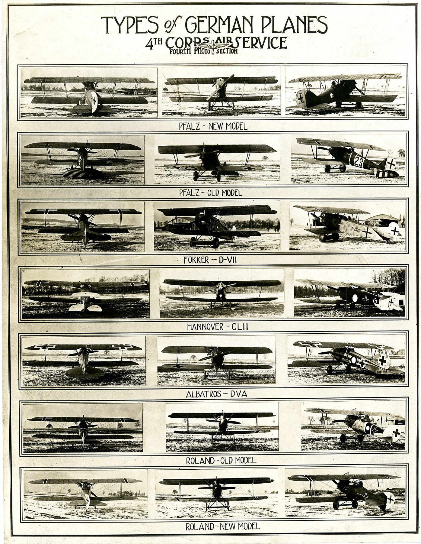 File:Types of German Planes, World War I aircraft recognition ...