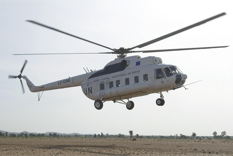 المروحيه العتيده Mil Mi-8 HIP UNHAS_(Heli_Air_Services)_Mil_Mi-8P_MTI-4