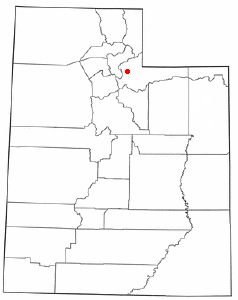 Location of Coalville, Utah